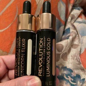 Makeup revolution liquid highlighters brand new